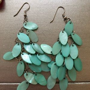 Silver & Aqua Earrings